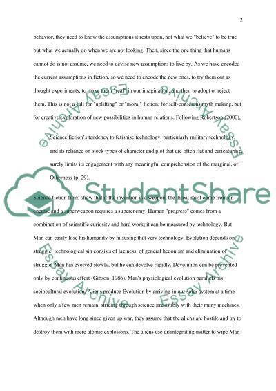 Science Fiction Master Essay essay example