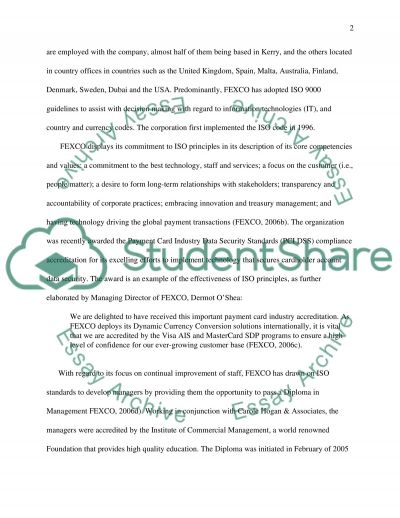 Operation Management and Quality Management Essay example