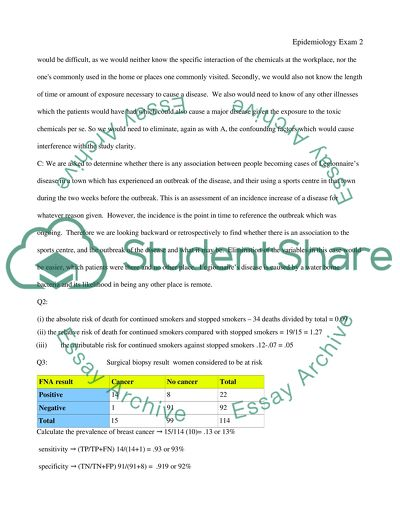 The Thesis Statement In A Research Essay Should Epidemiology Exam English Essays Examples also Ap English Essays Epidemiology Exam Essay Example  Topics And Well Written Essays  English Essay Topics For Students