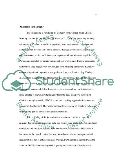 coaching and mentoring annotated bibliography example topics and related essays