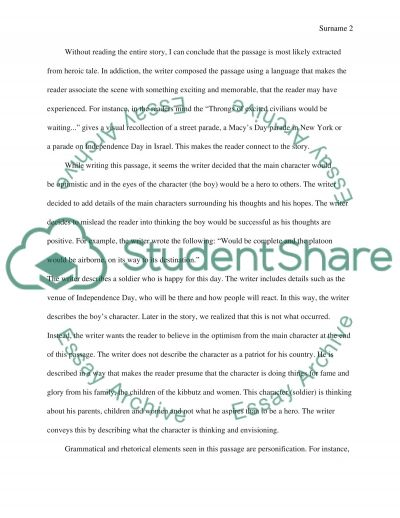 The Passage essay example