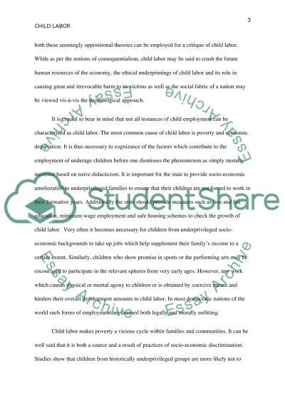 Child Labor Essay essay example