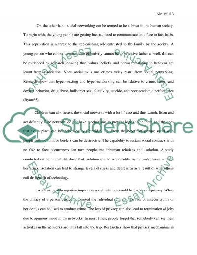 argumentative essay on social networking privacy Argumentative essay - question - 9 point structure social networking is bad and causes a wide range of problems discuss 1 2 3 4 5 6 7 8 9.
