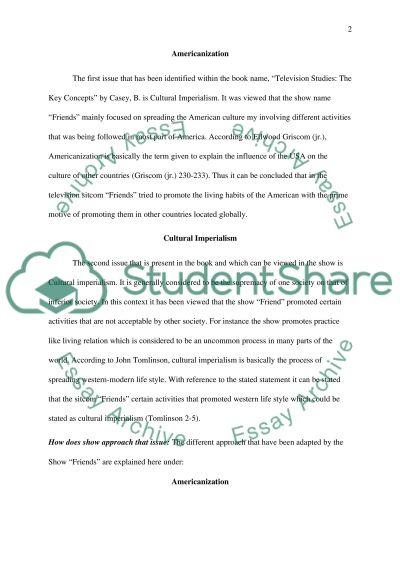 TV Paper Topics Essay example