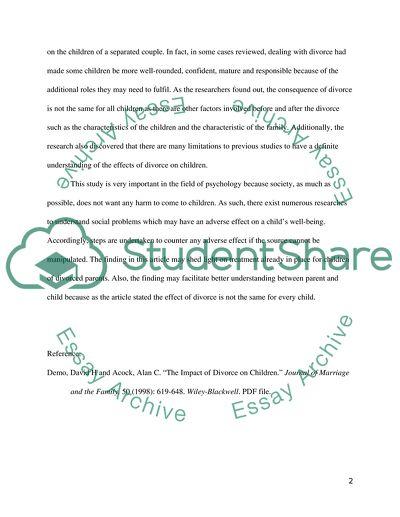 the effect of divorce on children admissionapplication essay the effect of divorce on children