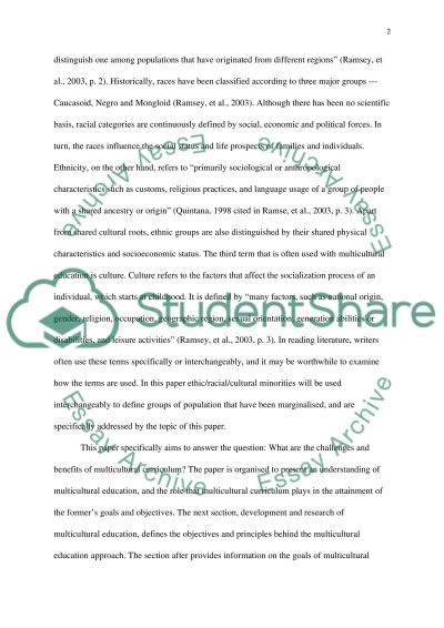 The Challenges and Benefits of a Multicultural Curriculum essay example