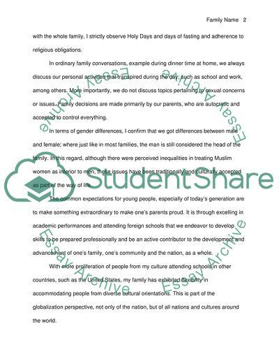 Cultural essay examples