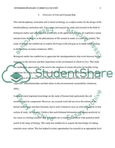 Interdisciplinary Curriculum Unit