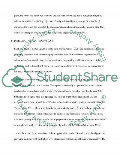 Marketing assignment essay example
