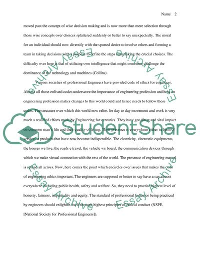 Thesis Statement Examples Essays Engineering Ethics Essay On Modern Science also Health Essay Engineering Ethics Essay Example  Topics And Well Written Essays  Thesis Statement Generator For Compare And Contrast Essay