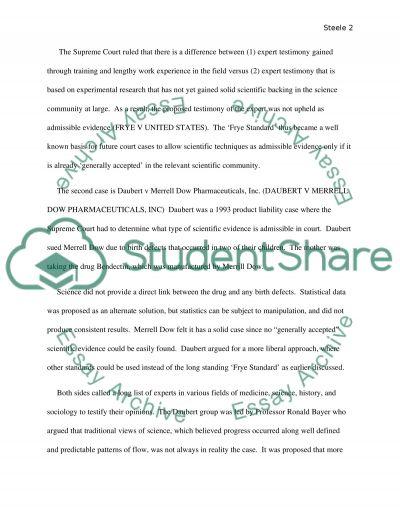 Court cases essay example