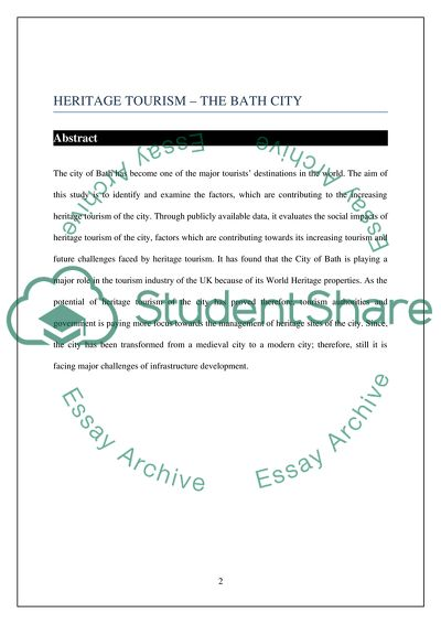 Heritage tourism - The city Bath