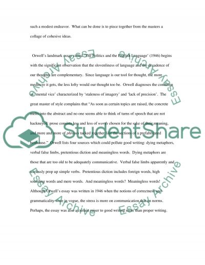 The English Language essay example