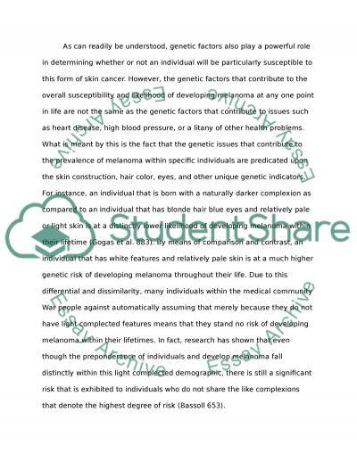 Informative Essay on Melanoma
