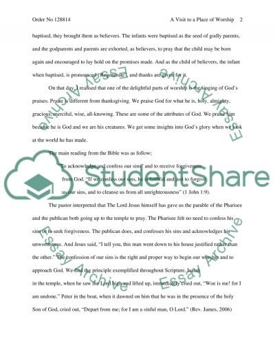 Public Worship essay example
