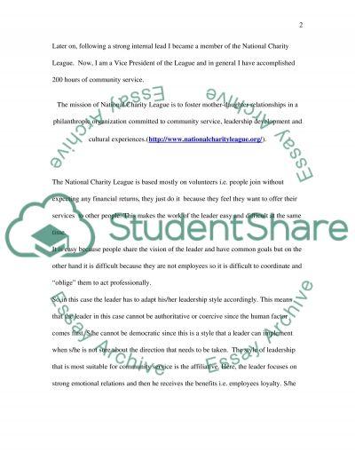 Leadership High School Essay essay example