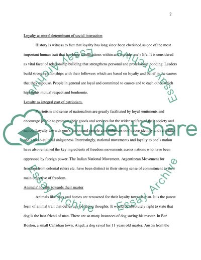Expository Essay Thesis Statement The Phenomenon Of Loyalty English Essay Outline Format also Thesis Statement Examples For Narrative Essays The Phenomenon Of Loyalty Essay Example  Topics And Well Written  What Is A Thesis Statement In A Essay