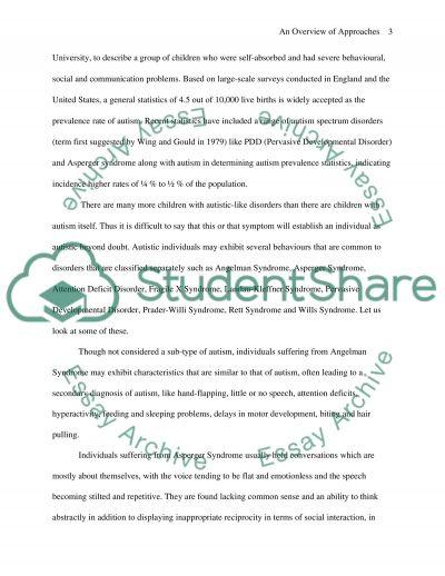 Autism essay example