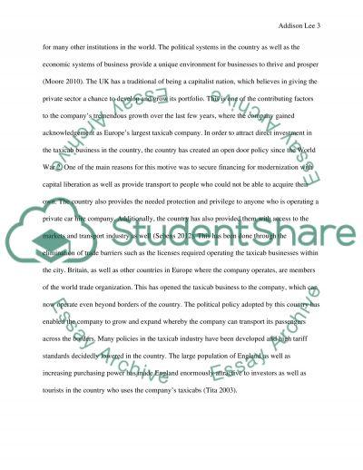 PESTEL SWOT ADDISON LEE TAXI company essay example