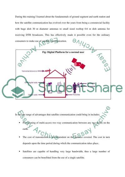 Satellite Communication essay example