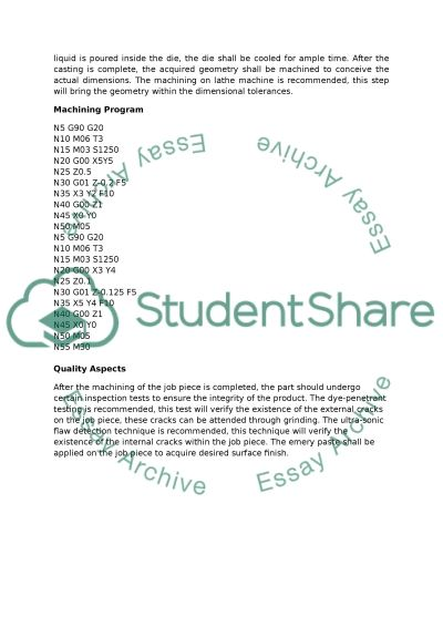 Wheel Centre Manufacturing Essay example