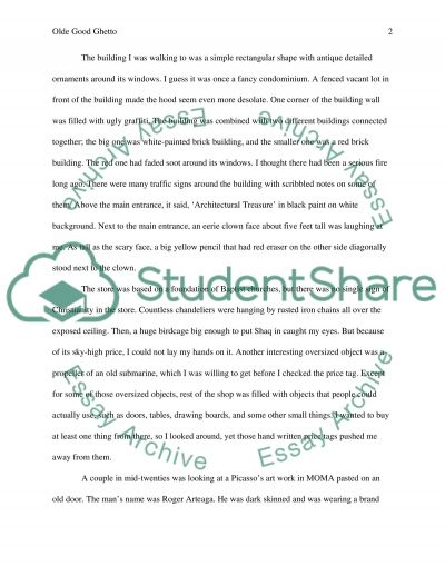 Olde good thing essay example