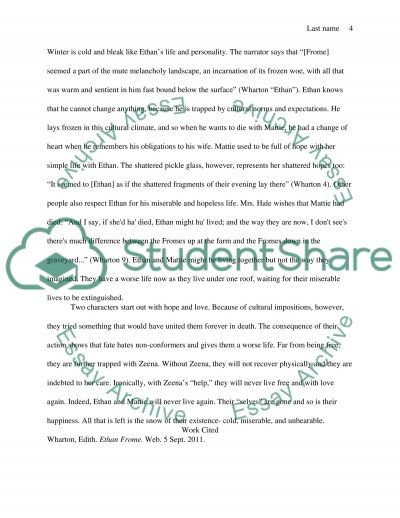 ethan frome essay topics Ethan frome tries to manage an unsuccessful farm while trying to care for his sick essay topics area & country studies essays ethan frome ethan, bitter.