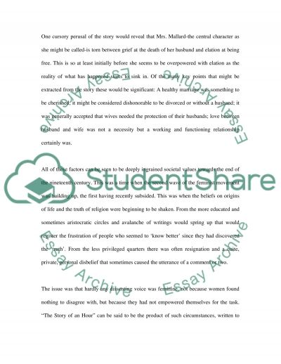 The Story of an Hour essay example
