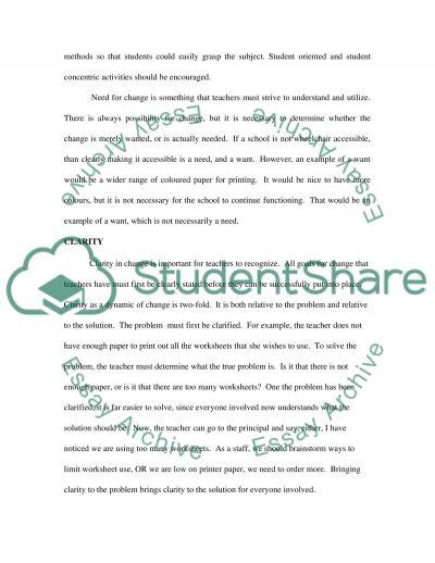 Characteristics Of Change Essay essay example