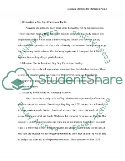Hope University for Sing Sing Correctional Facility essay example