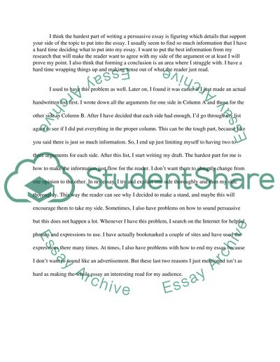English composition- repost (Persuasive Essay collaboration and peer review)