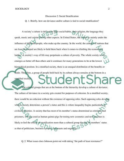 Social stratification essays