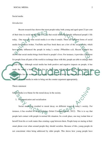 has social media caused moral decay essay example topics and  has social media caused moral decay essay example