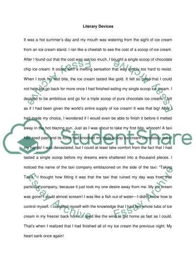 short story using literary devices essay example - Short Story Essays Examples