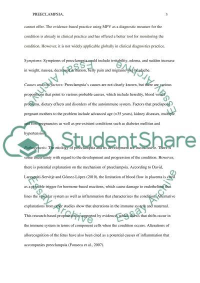 PEECLAMPSIA essay example