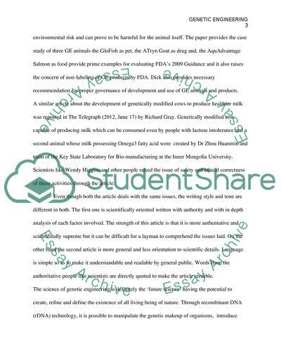 biotechnology essay samples