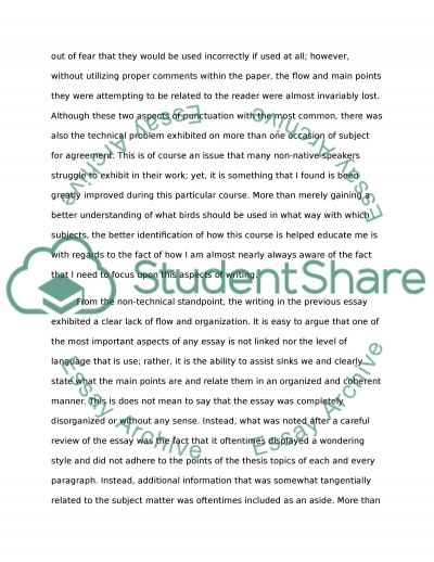 Improvement of Writing in the English Course
