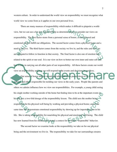 Narrative Essay Thesis Statement Examples Responsibility A Pragmatic View Of The Definition Essay Mahatma Gandhi English also Help Writing Essay Paper Responsibility A Pragmatic View Of The Definition Essay E Business Essay