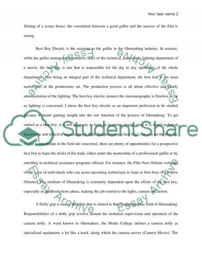 Whats a Gaffer Do essay example