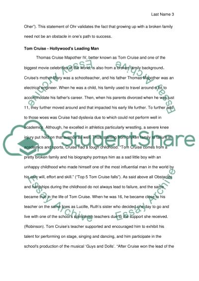 effects of broken family to students essay Essays & papers effects of having a broken family on the academic performance of the fourth year students - paper example.