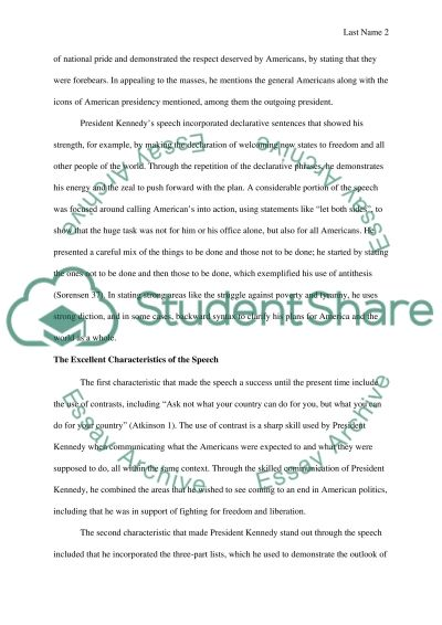 Jfk essay thesis