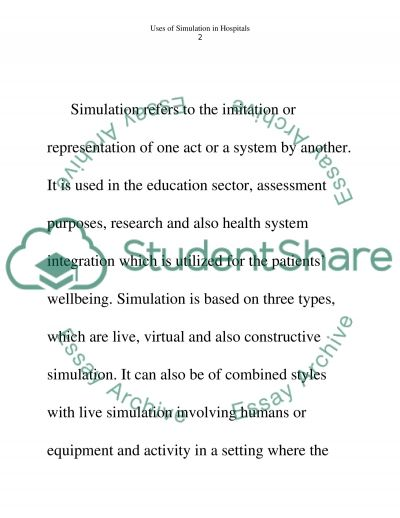 Uses of Simulation Technology in Hospitals essay example
