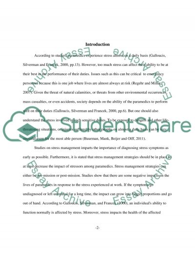 how to handle stress essay Read stress management from the story stress for college students,essay on by anyamarie with 7,698 reads essay stress management.