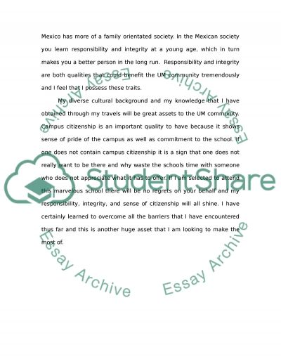 College Application essay example