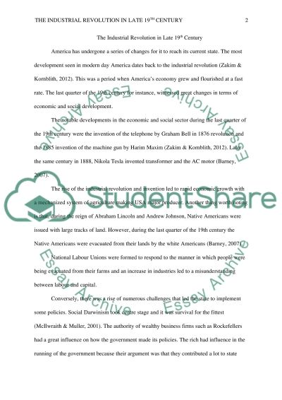 industrial revolution helpful situations essay