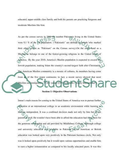 Interview with a foreign person essay example
