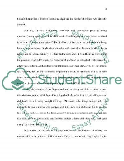Ethics concepts essay example