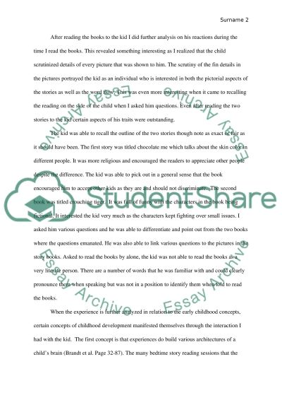 Reading stories with children essay example