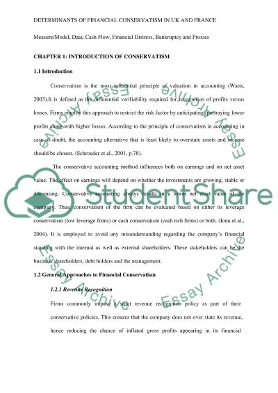 Determinants of financial conservatism in the United Kingdom and France essay example