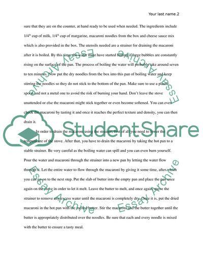 Process essay(How to essay)